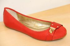 NIB Coach DAPHNEE Buckle Red Leather Ballet Flats Shoes Sz 10
