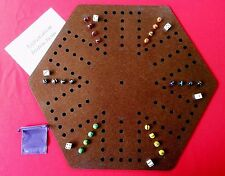 Aggravation, Wahoo wa hoo board game 6 player with felt backing, Wood, Engraved