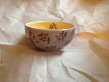 Purple and yellow Shabby floral cereal bowl made by Poppyville NWT