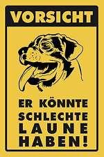 Blechschild - VORSICHT ER KÖNNTE SCHLECHTE LAUNE - ROTTWEILER -  20x30 cm 23018