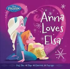Frozen Anna Loves Elsa by Brittany Rubiano (2015, Board Book)