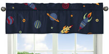 Saturn Planets Window Valance Curtain for Jojo Space Galaxy Rocket Ship Bedding