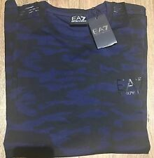 EA7 Armani T-shirt Top size XL Men's BNWT Black Camo NEW