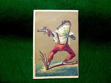 Anthropomorphic Bullfrog Holding Gun Wearing Shirt Trousers & Suspenders Z2