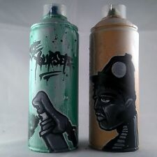 BE YOURSELF PAINTED EMPTY SPRAY CAN SET GRAFFITI STREET ART CHRISTMAS GIFT BOYS