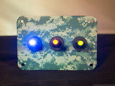 3 HOLE Digital Camo WRAP - Urban w/ 3 LED toggle switches of your choice Shown