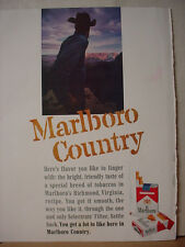 1963 Marlboro Cigarettes Man Country Canyon small stain Vintage Print Ad 10358