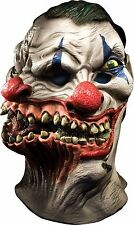 Siamese Clown Mask Wide Smile ICP Evil Adult Creepy Halloween Costume Two Heads