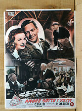 AMORE SOTTO I TETTI fotobusta poster affiche William Holden Apartment for Peggy