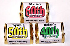 30 BIRTHDAY CANDY WRAPPERS FAVORS 40th 50th ANY AGE