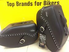 HELD Mustang 20Ltr Saddle Bag CRUISER Motorcycle LEATHER Luggage 4560.16 SnapFit