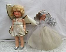 2 X VINTAGE CHRISTMAS TREE ANGEL FAIRY TOPPERS ROSEBUD DOLL & OTHER