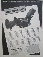 8/1945 PUB BENDIX PACIFIC AVIATION HYDRAULIC HAND PUMP ORIGINAL AD