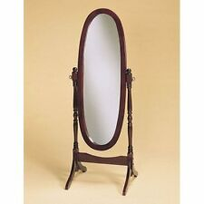"59"" Inch Full Length Free Standing Cheval Mirror Bedroom Dressing Mirror Cherry"