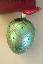 """Large 5"""" WATERFORD CRYSTAL Ornament Faberge Egg Heirlooms"""
