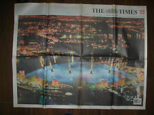 VINTAGE NEWSPAPER THE TIMES JANUARY 1st 2000 NEW MILLENNIUM CELEBRATIONS