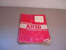 Suzuki AH 50 Adress Werkstatthandbuch Wartungsanleitung Reparaturhandbuch