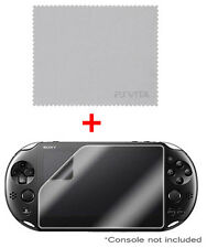 OFFICIAL Sony Playstation PS VITA Clear Screen Protector & Cleaning Cloth NEW UK