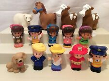 Fisher-Price Little People Lot! Animals & Figures! Horses, Dog... Cute Lot! H25