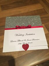 40 Wedding Pocketfold Invitations With Rsvp Cards And Poem Cards