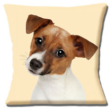 "NEW  CUTE JACK RUSSELL PUPPY DOG TAN WHITE SMOOTH HAIR  16"" Pillow Cushion Cover"