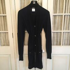 Chanel Ladies Authentic Long Cashmere/Silk Jacket/Cardigan.
