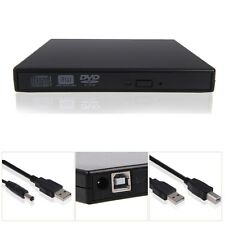 US External Black USB Slim 8x DVDRW DL DVD CD RW Burner Writer Drive All PC+Mac