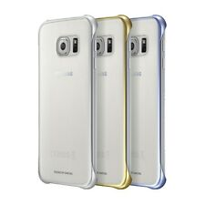 OFFICIAL SAMSUNG GALAXY S6 CLEAR BACK COVER CASE BLUE, SILVER, GOLD 3 IN 1 PACK