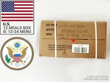 US Army Rations box B. Military meals ready to eat (MRE). Best before 2019-05