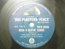 "THE DEEP RIVER BOYS POPV 8040 INDIA INDIAN RARE 78 RPM RECORD 10"" GREEN VG"