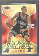1999 2000 Flair Showcase Mike Bibby Point Perfect Card Insert 0535/1999 Made