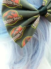 Dinosaur Black and Red Print Handmade Hair Bow - Jurassic Hair Clip - T-Rex
