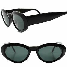 Old stock Classic Genuine Vintage 80s Style Thick Black Frame Cat Eye Sunglasses