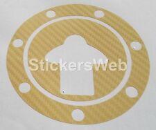 Adesivo Tappo Serbatoio KAWASAKI ZX-7R ZX7R 1990-2004 (Carbonio Oro) Cod.0544