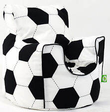 Cotton Football Bean Bag Arm Chair with Beans Child / Teen size From BeanLazy