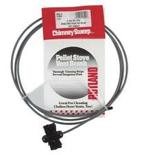 "Rutland Chimney Sweep 3"" Pellet Stove Vent Brush 10ft Handle 17409"