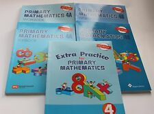 Primary Math Extra 4 Set(US Edition) -Workbooks/Texbooks 4A+4B+ Extra Practice 4