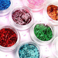 12 Colors New Acrylic Nail Art UV Gel Glitter Powder Beads Decoration Tips Kit