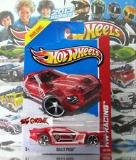 Hot Wheels 2013 #140 Bullet Proof™ TRANSPARENT RED,SMOKE TINTED TIRES,OH5SP,NEW