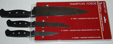 "Hampton Forge Knives 8"" Chef 5"" Utility 3"" Parer 3-piece Cutlery Set NEW"