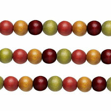 Wood Round Beads Earth Tones 6mm 16 Inch Strand