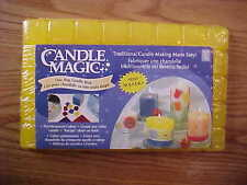 "LOT OF 3 POUNDS CANDLE MAGIC ONE STEP CANDLE WAX SCORED 1"" CUBES YELLOW"