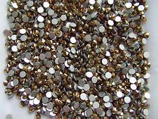 100pz strass ss12 base piatta non hotfix da incollo  3mm colore oro bijoux