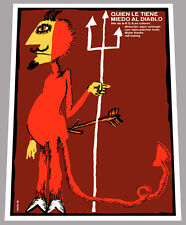 """24x36""""Cuban movie Poster for art film Who is afraid of the devil.Children.Red"""