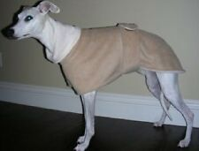 *CUSTOM ANY SOLID COLOR FLEECE LINED DOG COAT & SNOOD WHIPPET MANCHESTER TERRIER