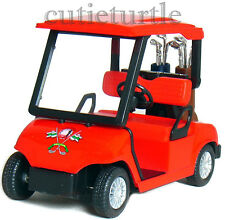 "4.3"" Kinsfun Golf Club Cart Model Caddy Car With Club Pull Back Action Red"