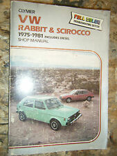 1975-1981 VOLKSWAGEN RABBIT SCIROCCO CLYMER SHOP MANUAL REPAIR SERVICE 76 77 78