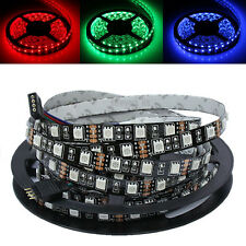 PCB Black 5m 500cm 5050 RGB 300 LED SMD Flexible Light Strip DC 12V