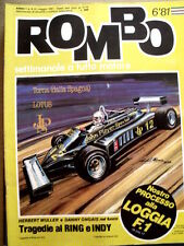 ROMBO n°6 1981 Tragedia al RING e INDY Herbert Muller Danny Ongais  [P26]