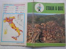 Vecchio quaderno scolastico di scuola L'ITALIA A QUIZ COSENZA PANORAMA KRONOS